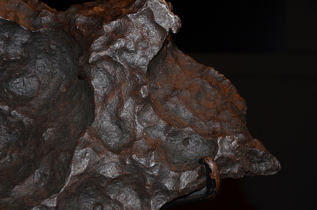 Part of the Gibeon Meteorite at the Greenwich Observatory. Photo by Ben Sutherland