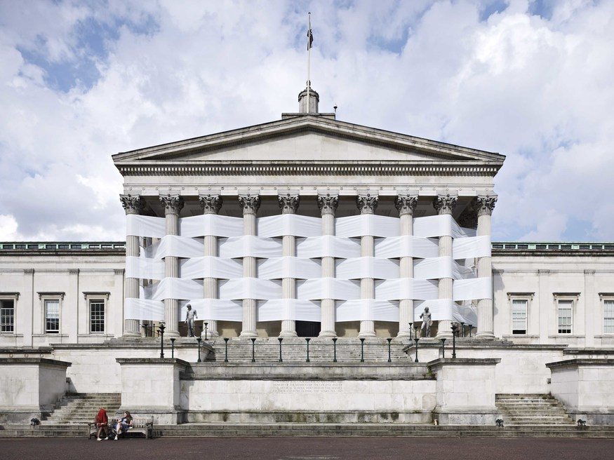 Nicolas Feldmeyer, Woven Portico - photo by Nick Rochowski. Courtesy Saatchi Gallery