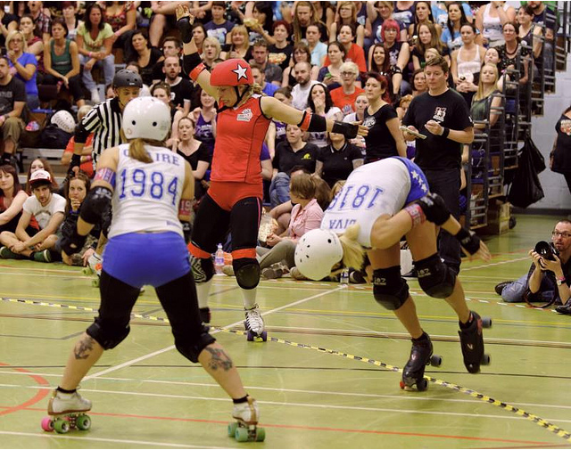 Roller Derby at Newham Leisure Centre by sjnewton