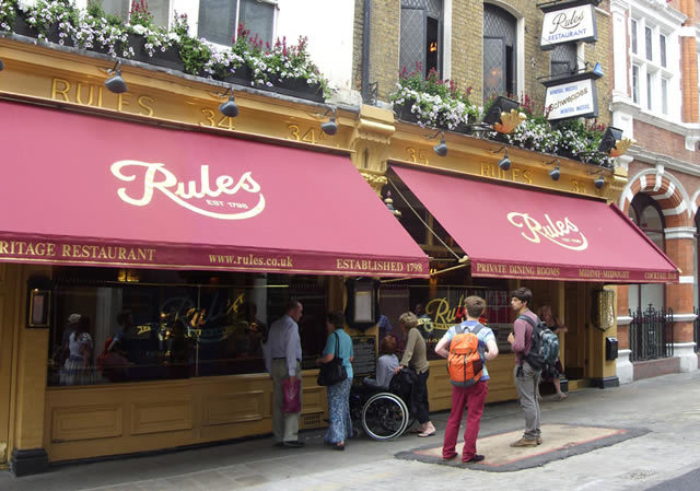 Rules' age is shouted from the very awnings
