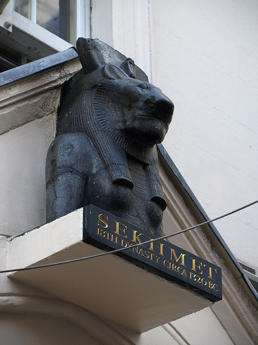 "Goddess Sekhmet ""The Powerful One"", Sotheby's New Bond Street. Photo by Rob Wilkinson"