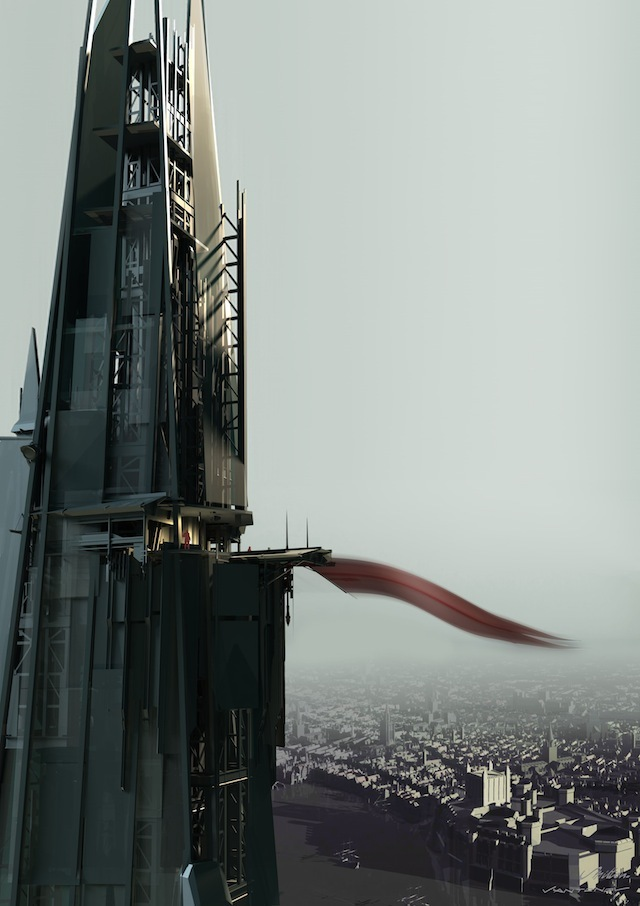 "The Shard is given an exclusive ""Dishonored"" makeover to mark tomorrow's UK launch of the video game"""