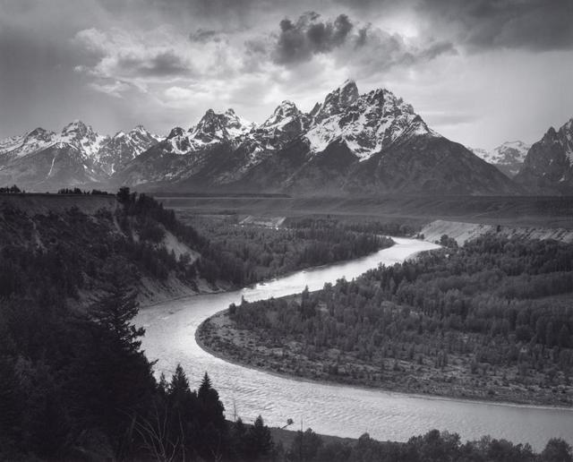 The Tetons and the Snake River, Grand Teton National Park, Wyoming, 1942. Photograph by Ansel Adams. Collection Center for Creative Photography, University of Arizona © The Ansel Adams Publishing Rights Trust