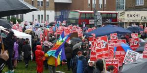 Thousands March In Rain To Support Lewisham Hospital