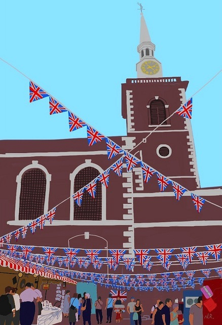 The Christopher Wren church of St James Piccadilly during London 2012.