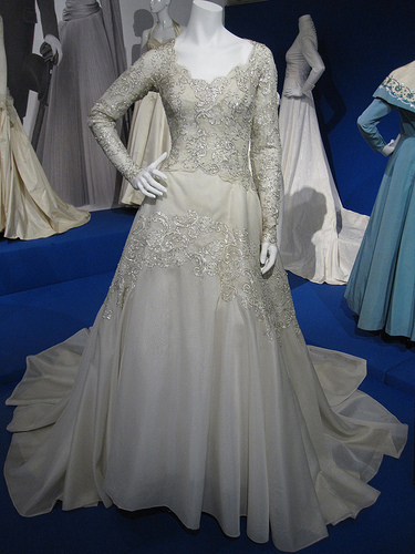 Wedding dress of Lady Anne Glenconner by Norman Hartnell