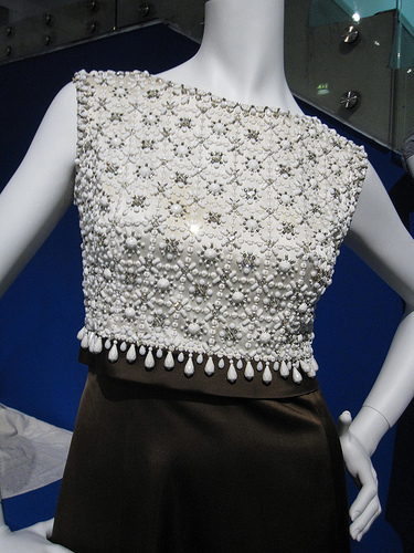 Gorgeous detailing on a brilliant mini dress at the Hartnell to Amies exhibition