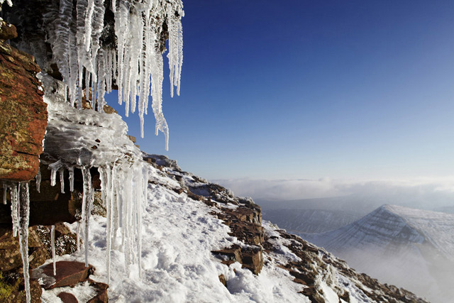 Icicles on Pen y Fan, Brecon Beacons, Wales by Dan Santillo (Commended, Your view). Image courtesy of Take A View.