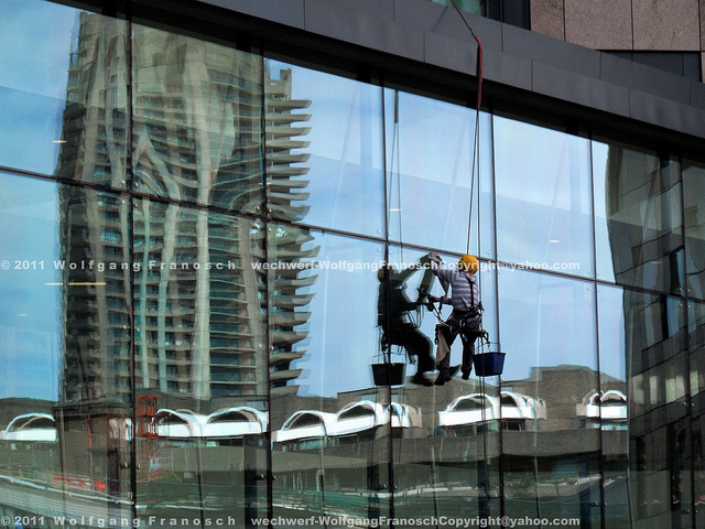 Barbican reflected, by Mr Tudor