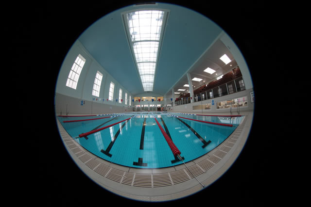 A fisheye view of the pool by Ruth Corney www.ruthcorney.com
