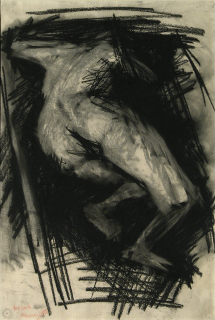 Nude, Frank Auerbach, 1985, Charcoal on paper, © Royal College of Art Collection