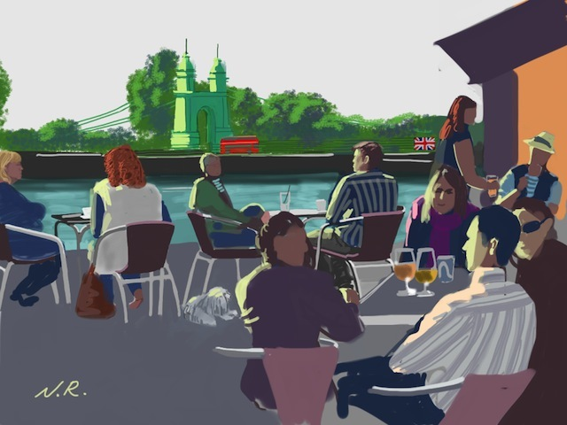 London By iPad: Artist Draws Scenes From Around Town