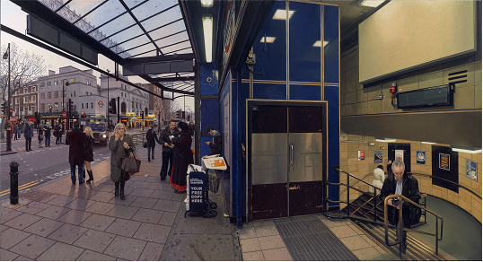 Clive Head, Leicester Square, 2010. Image courtesy of Marlborough Fine Art (Previous work, not in current exhibition)