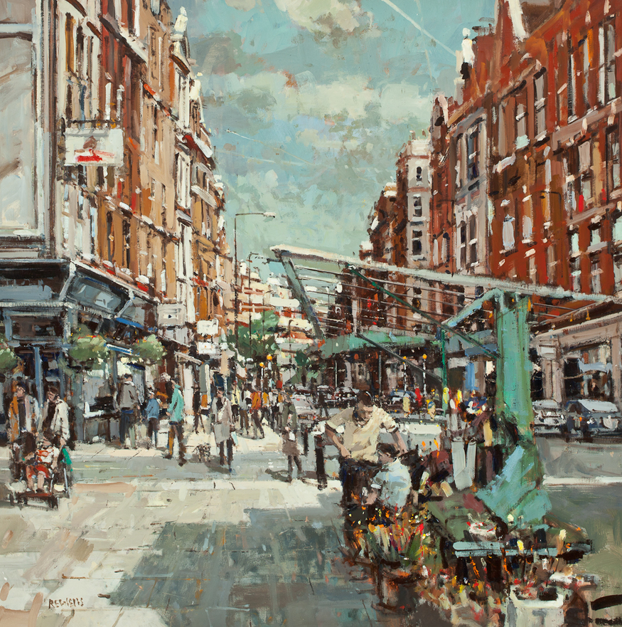 Robert E Wells, Marylebone High Street. Courtesy Thompson's Gallery