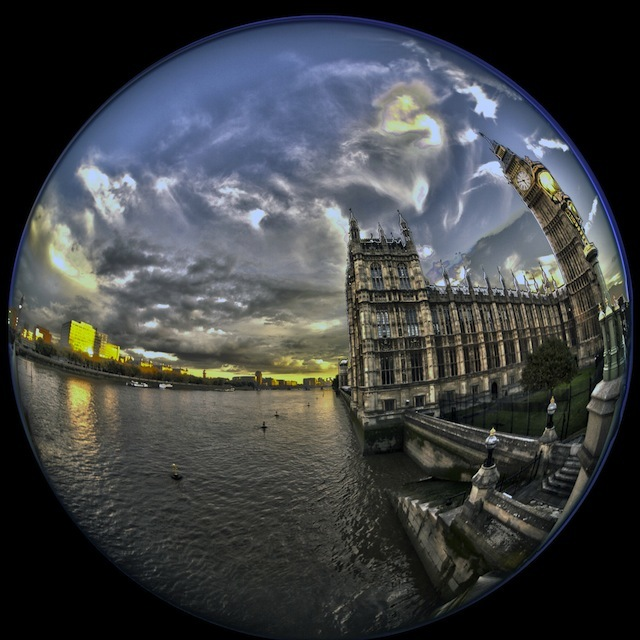 London Through A Fish-Eye Lens