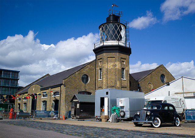 The lighthouse at Trinity Buoy Wharf