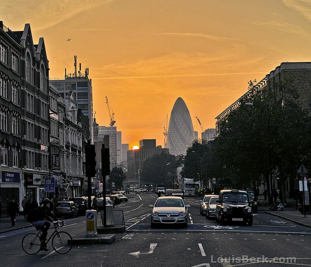 Whitechapel sunset, by Louis Berk
