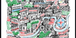 Santa's Lap: Vic Lee's London Prints