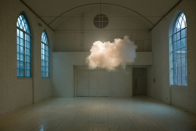 Berndnaut Smilde, Nimbus II, 2012. Courtesy the artist and Ronchini Gallery Photo Cassander Eeftinck Schattenkerk