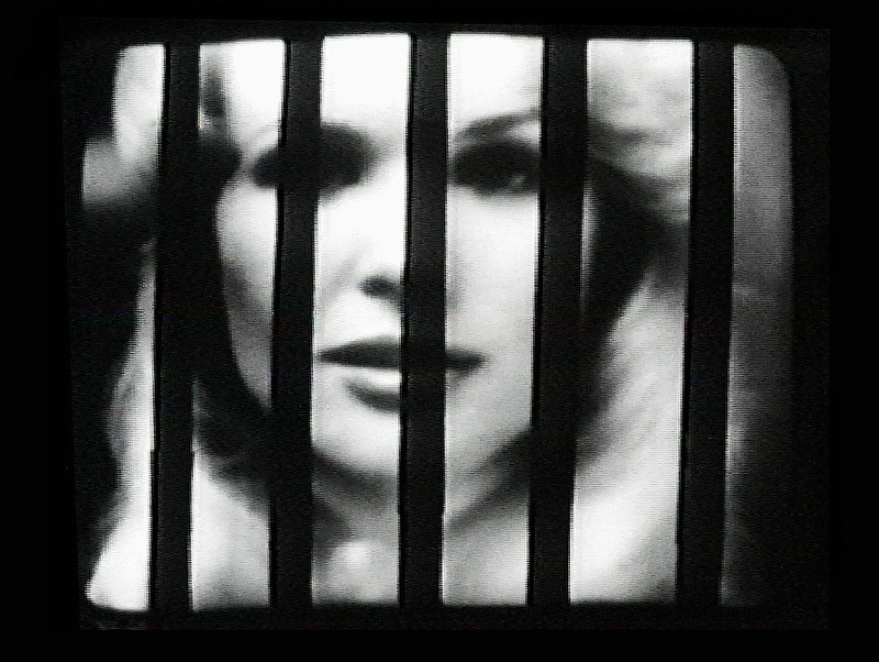 Sanja Iveković, Sweet Violence, 1974, 5'56'', DVD Video Beta, black and white, sound, looped. Image courtesy of the artist.