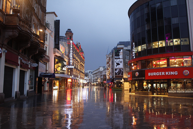 Leicester Square at dawn by weldonwk