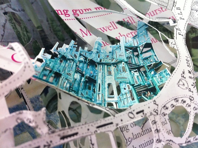 Mapping Muswell: An Intricate Paper Collage By Anya Beaumont