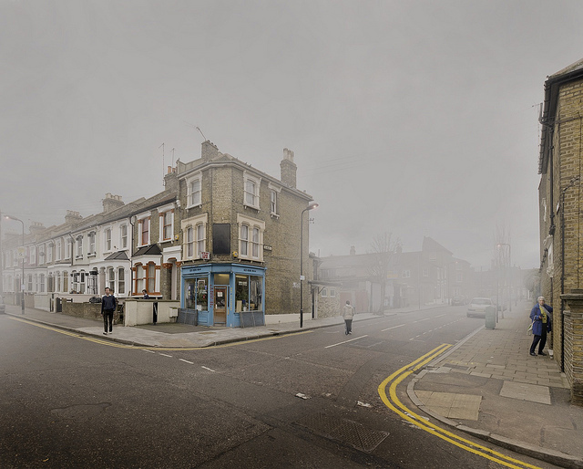 Hackney streets, by Chris Dorley Brown, from 'London Fog' on 14 December