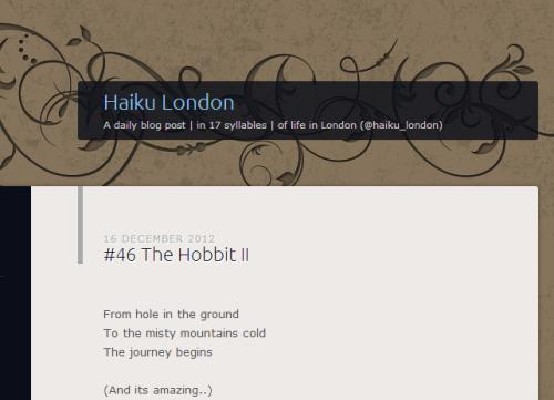 New Website: Haiku London