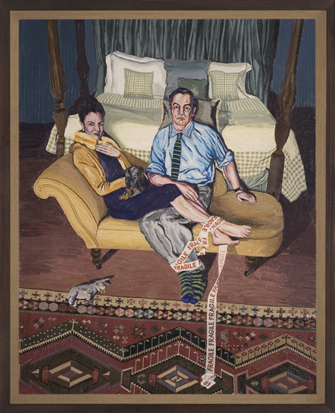 Henry Hudson, The Artist's Mother, And Stepfather With Persian Rug And Tape. Image courtesy TJ Boulting.