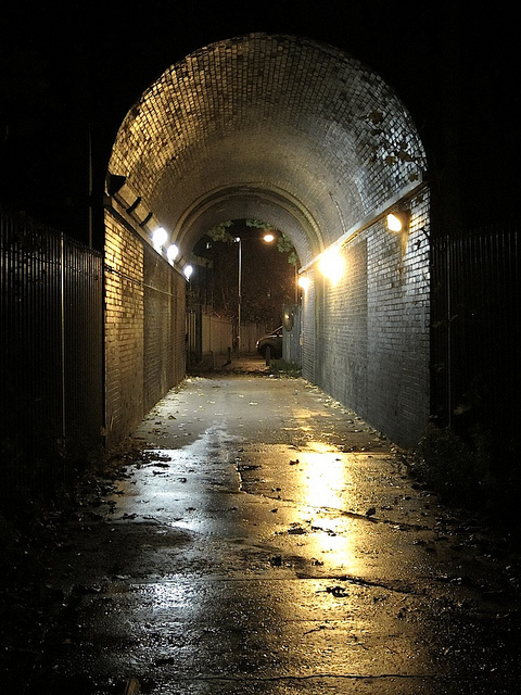 Tunnel in Lewisham, by Andy Worthington