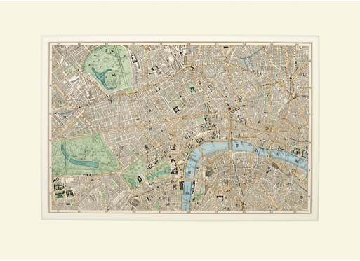 Marylebone, St.George, Holborn, Clerkenwell, Shoreditch, Finsbury, Southwark - map from Bacon's New Large-Scale Atlas of London and Suburbs. G W Bacon & Co. 1905 (£300)