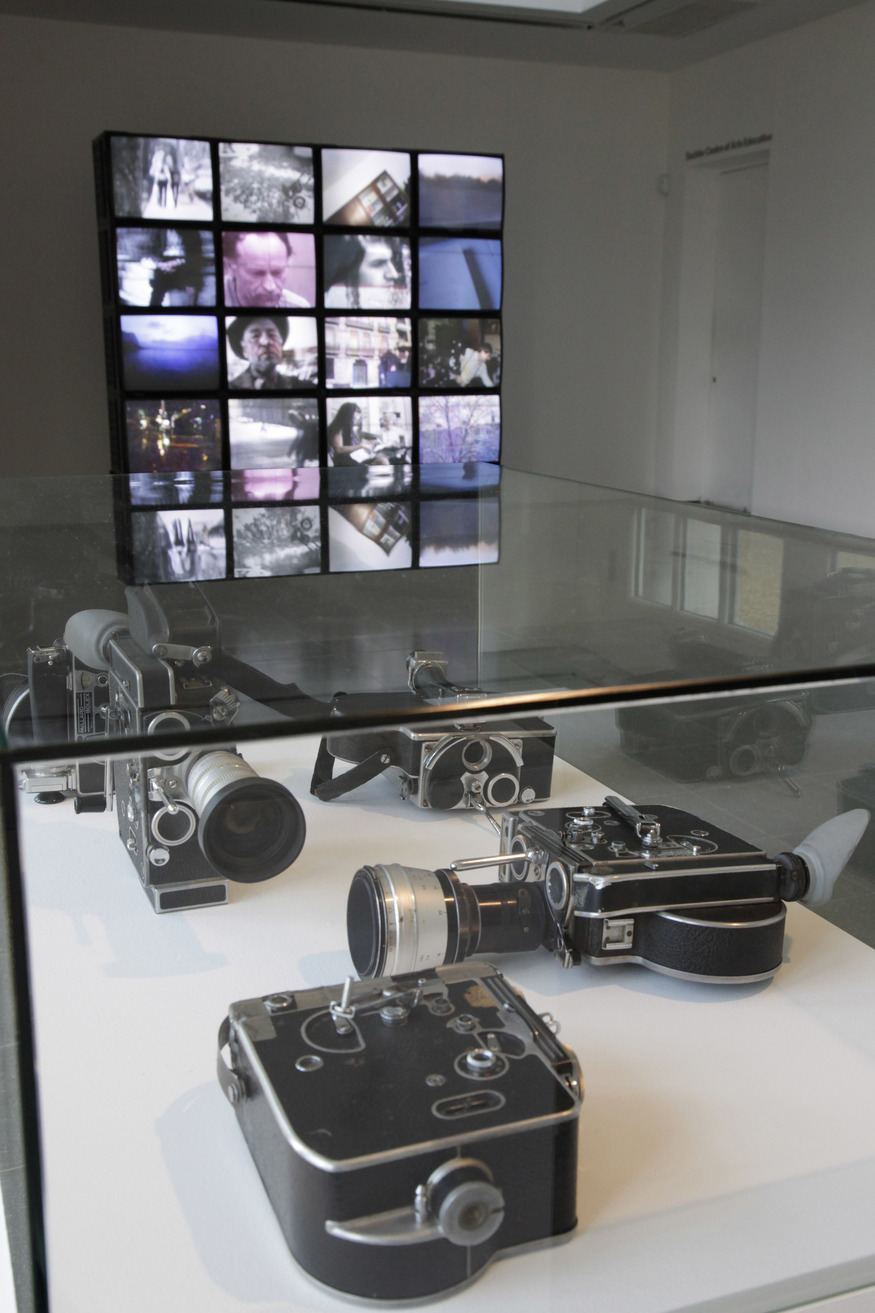 LAVENDER PIECE 2012 / Bolex cameras owned by Mekas  Installation view, Jonas Mekas Serpentine Gallery, London. © 2012 Jerry Hardman-Jones