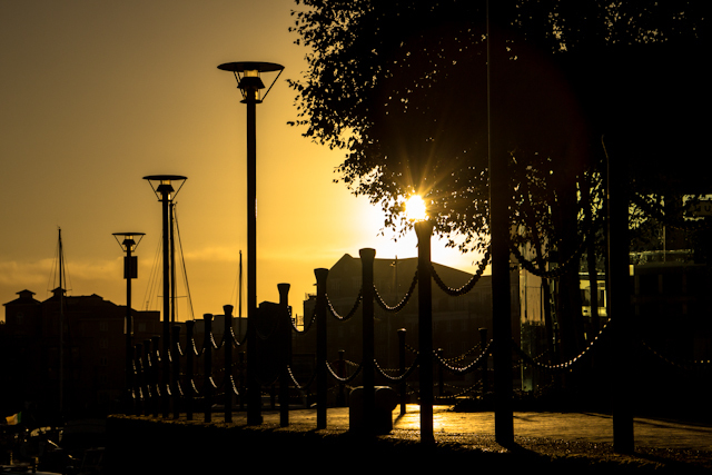 Sunrise over East London III
