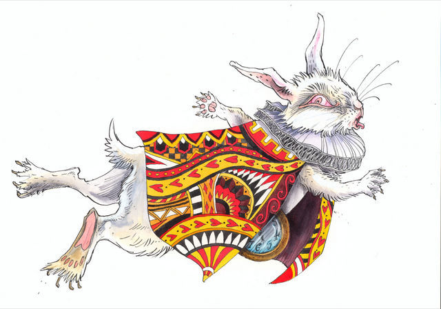 White Rabbit, Curiouser and Curiouser. Image courtesy Abi Moulder