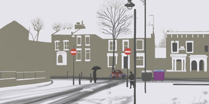 iPad Art: London In The Snow