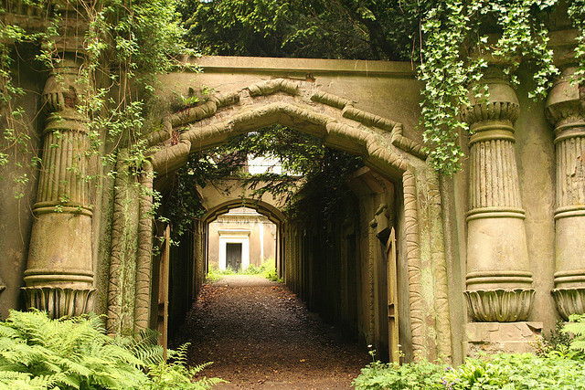 Egyptian Avenue, Highgate Cemetery by Amanda Farah