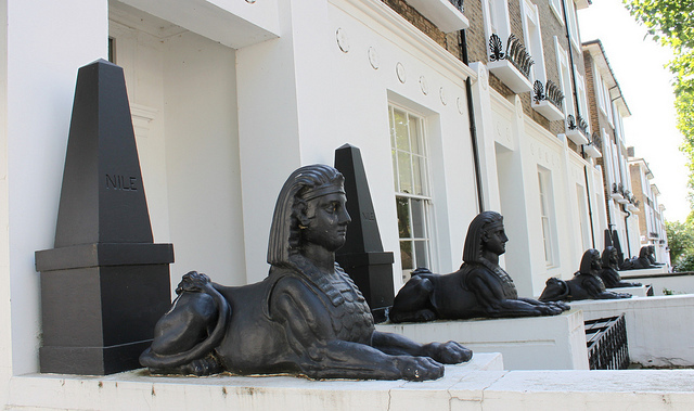 Islington Sphinxes and Obelisks on Richmond Avenue by curry15
