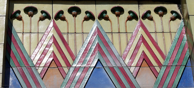Detail of Faience Decoration: Carlton Cinema Essex Road by curry15