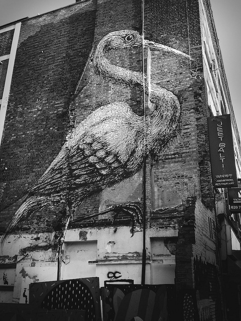 Roa's big bird by monkeyhangeruk