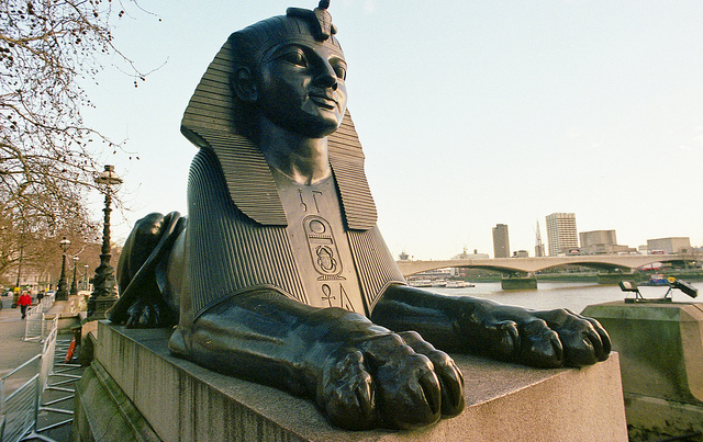 Embankment Sphinx by Martin de Kauwe