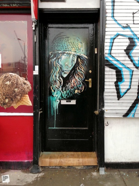 Alice Pasquini's piece on Commercial Road.