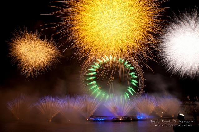 Fireworks on the Thames by Nelson Pereira
