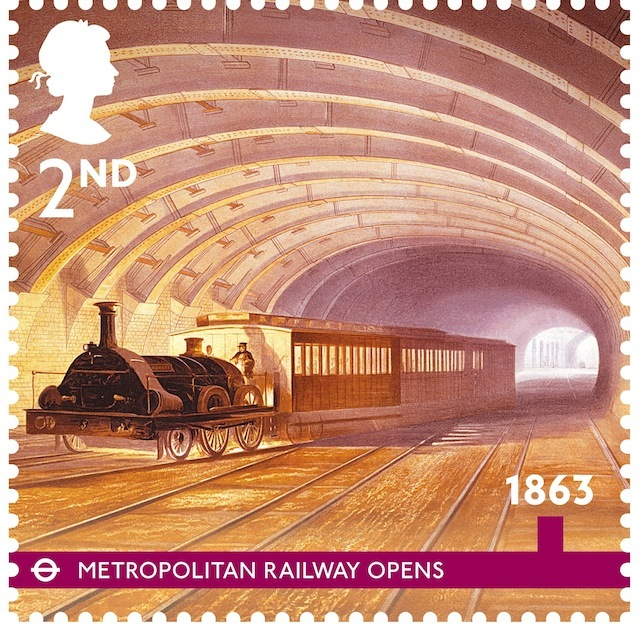 Royal Mail Issues Tube-Themed Stamps