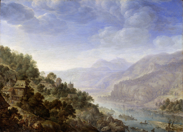Herman Saftleven, View on the Rhine, 1656. By permission of the Trustees of Dulwich Picture Gallery, London.