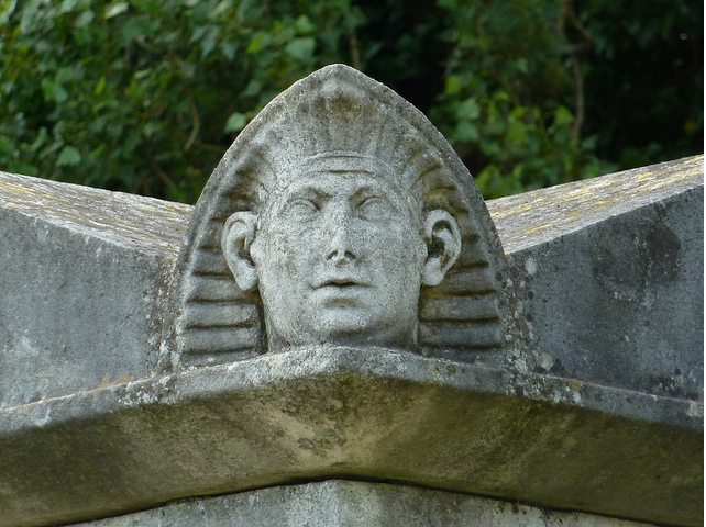 Egyptian Head, Kensal Green Cemetery, W10 by victorian london