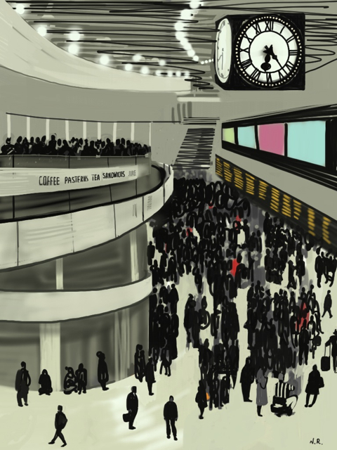 Waterloo main concourse.