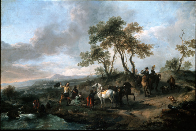 Philips Wouwermans, Halt of a Hunting Party, early 1660s. By permission of the Trustees of Dulwich Picture Gallery, London.