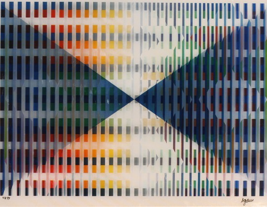 Yaacov Agam, Composition Triangulaire. Courtesy Paul Stolper