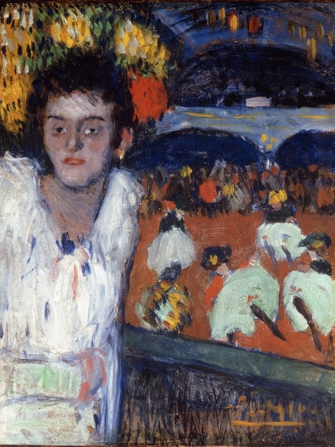 Pablo Picasso (1881-1973) At the Moulin Rouge, 1901 Oil on board, 69.5 x 53.7 cm Private collection