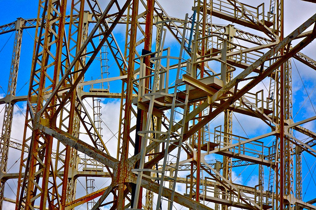Gas holder 1 Wood Green by Belfegore